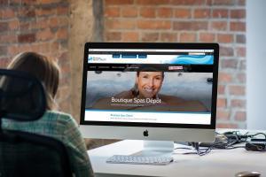 Création de site web - boutique-spas-depot.ca